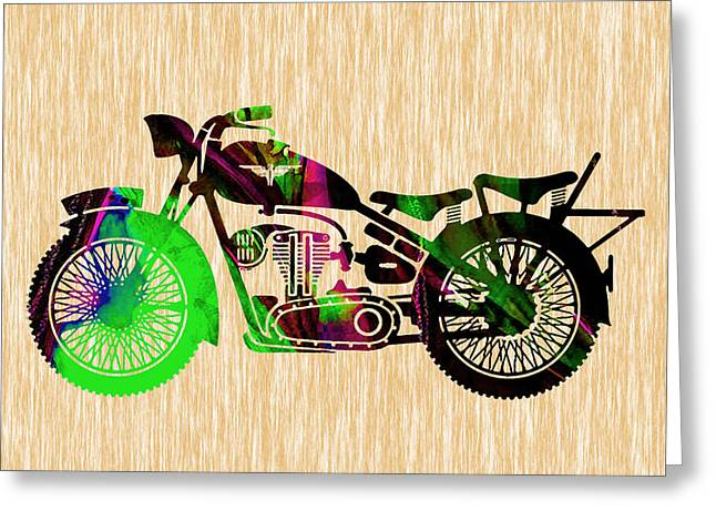 Old Motorcycle Greeting Cards - Motorcycle Greeting Card by Marvin Blaine