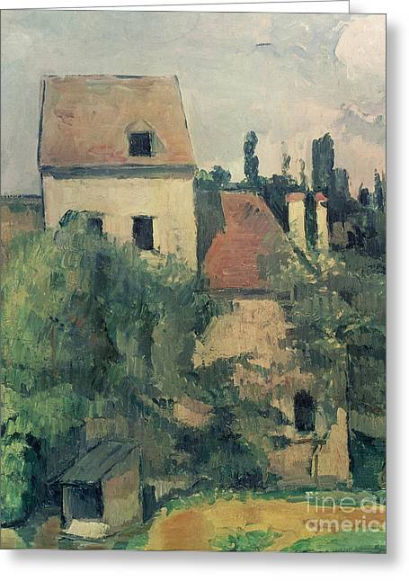 Rustic House Greeting Cards - Moulin de la Couleuvre at Pontoise Greeting Card by Paul Cezanne