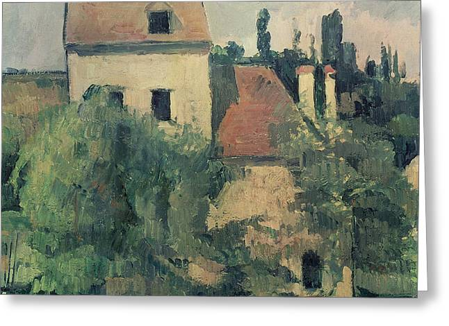 Moulin de la Couleuvre at Pontoise Greeting Card by Paul Cezanne