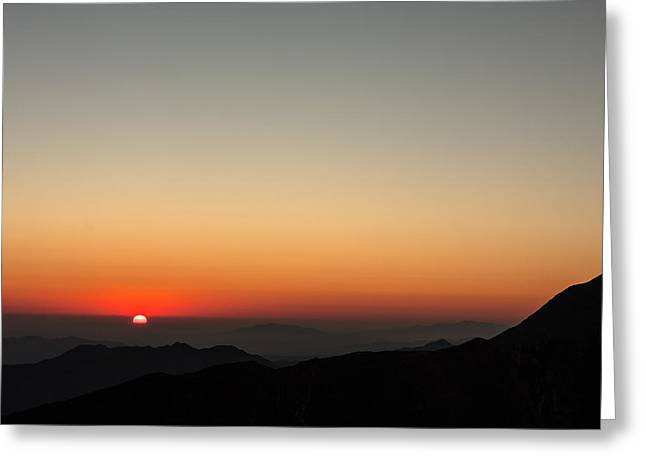 North America Greeting Cards - Mount Laguna Sunrise Greeting Card by Josh Whalen