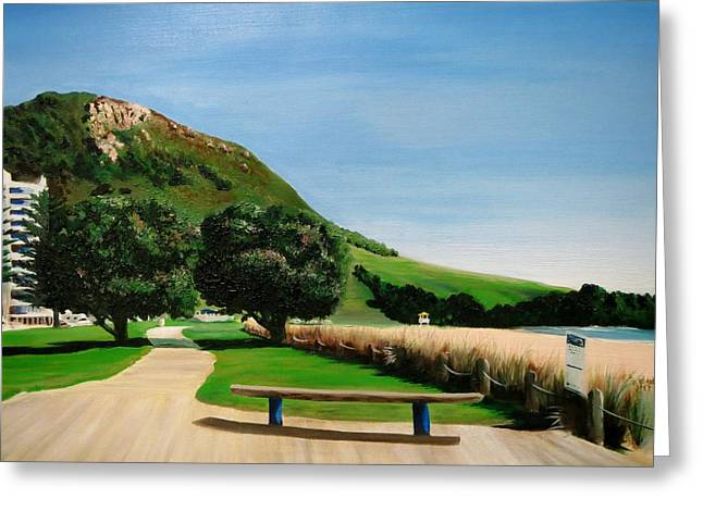 Mount Maunganui Greeting Cards - Mount Maunganui Beach Greeting Card by Craig Steiner