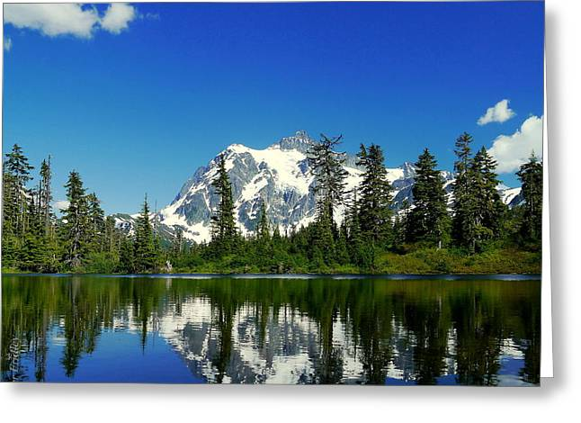 Christopher Fridley Greeting Cards - Mount Shuksan Greeting Card by Christopher Fridley