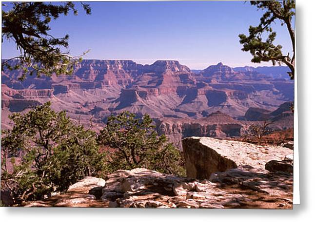 Mather Greeting Cards - Mountain Range, Mather Point, South Greeting Card by Panoramic Images