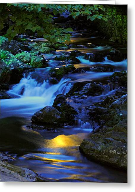 Sureal Greeting Cards - Mountain Stream Greeting Card by Frozen in Time Fine Art Photography