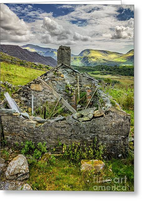 Dilapidated Digital Art Greeting Cards - Mountain View Greeting Card by Adrian Evans