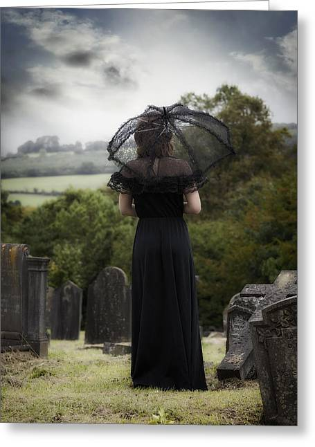 Old Stone Greeting Cards - Mourning Greeting Card by Joana Kruse