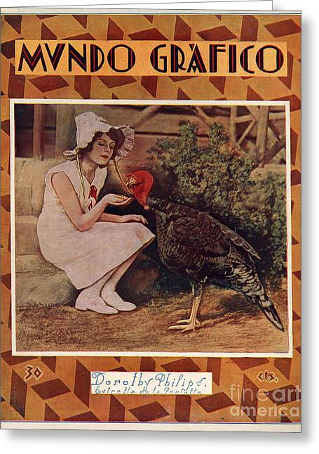 Twentieth Century Greeting Cards - Mundo Grafico 1928 1920s Spain Cc Greeting Card by The Advertising Archives