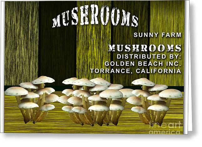 Vegetables Greeting Cards - Mushroom Farm Greeting Card by Marvin Blaine