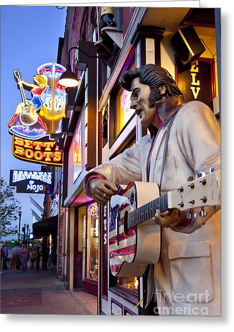 Nashville Tennessee Greeting Cards - Music City USA Greeting Card by Brian Jannsen