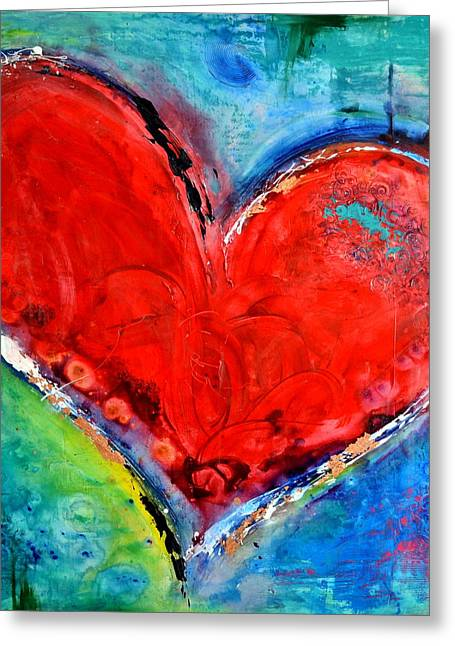 Christian work Paintings Greeting Cards - Music of the Heart Greeting Card by Ivan Guaderrama