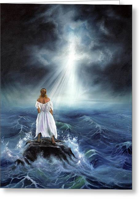 Best Sellers -  - Storm Prints Greeting Cards - My Deliverer Greeting Card by Jeanette Sthamann