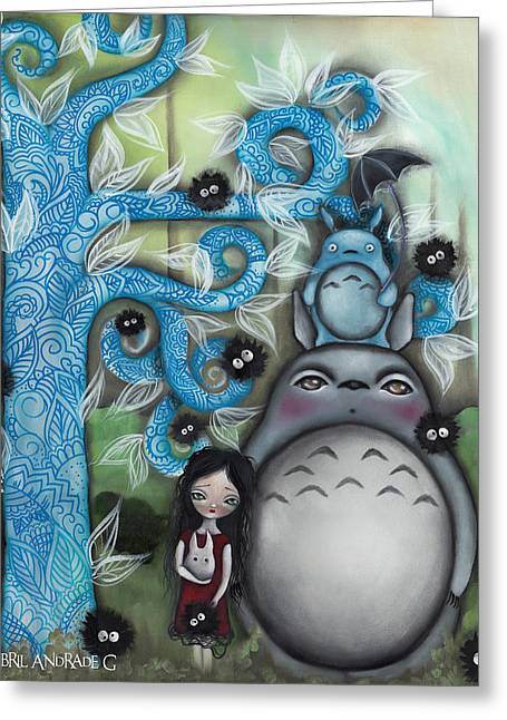 Gothic Greeting Cards - My Friend Greeting Card by  Abril Andrade Griffith