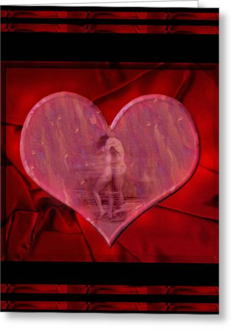 Couple Kissing Greeting Cards - My Hearts Desire Greeting Card by Kurt Van Wagner