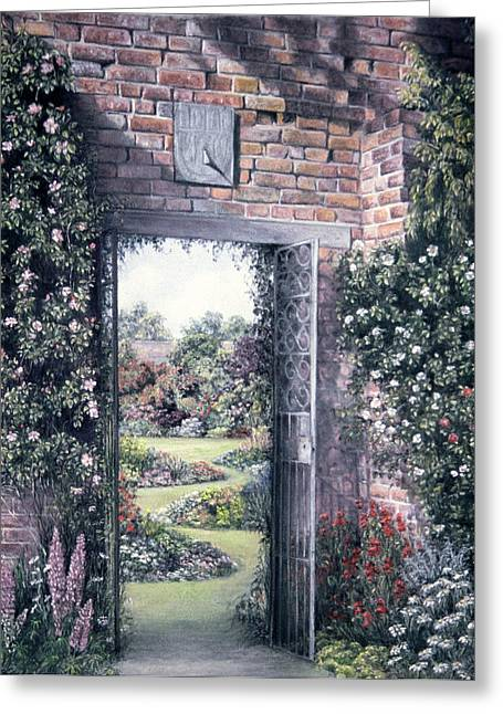 Gate Pastels Greeting Cards - My Secret Garden Greeting Card by Rosemary Colyer