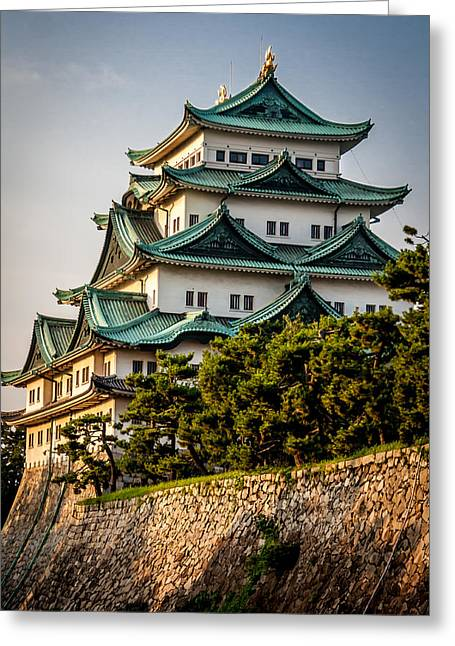 Hiroshima Peace Memorial Greeting Cards - Nagoya Castle Greeting Card by Gary Fossaceca