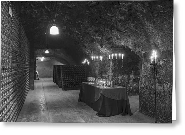 Napa Valley And Vineyards Greeting Cards - Napa Valley Wine Cave Greeting Card by Mountain Dreams