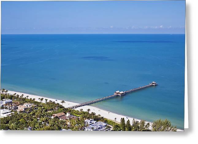 Touristy Greeting Cards - Naples pier Greeting Card by Patrick M Lynch