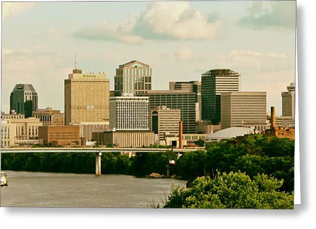 Nashville Greeting Cards - Nashville Panorama Greeting Card by Mountain Dreams