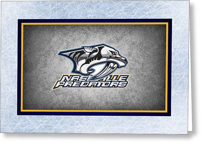Predator Greeting Cards - Nashville Predators Greeting Card by Joe Hamilton