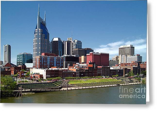 Jeff Holbrook Greeting Cards - Nashville Skyline Greeting Card by Jeff Holbrook