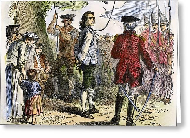 Bayonet Greeting Cards - Nathan Hale (1755-1776) Greeting Card by Granger