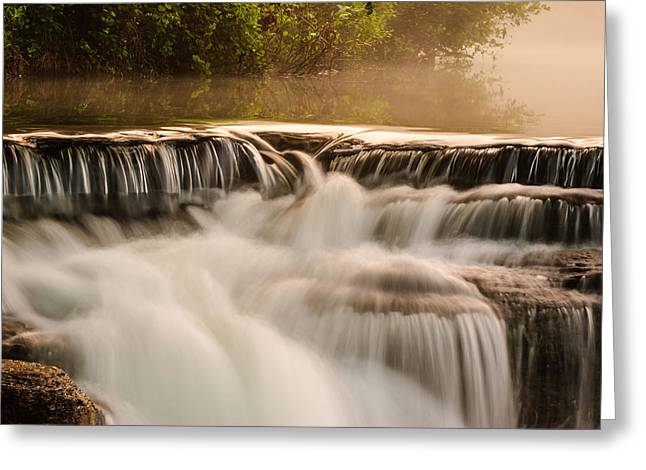 Crawford County Arkansas Greeting Cards - Natural Dam Detail Greeting Card by Terry Olsen