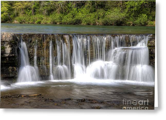 Mountain Fork Greeting Cards - Natural Dam Falls Greeting Card by Twenty Two North Photography