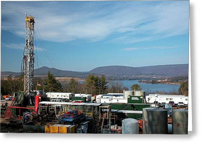 Natural Gas Well Greeting Card by Jim West