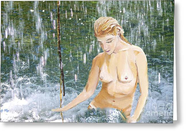 Nude Art Greeting Cards - Natural Instincts 3 Greeting Card by Judy Kay