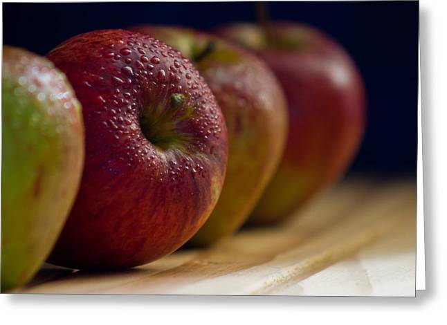 Apple Pyrography Greeting Cards - Natures Candy Greeting Card by Darren Wilders