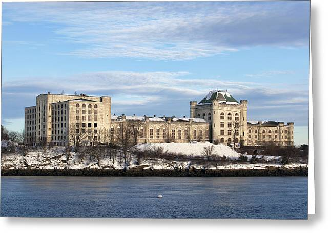 Briggs Greeting Cards - Naval Prison Greeting Card by Eric Gendron