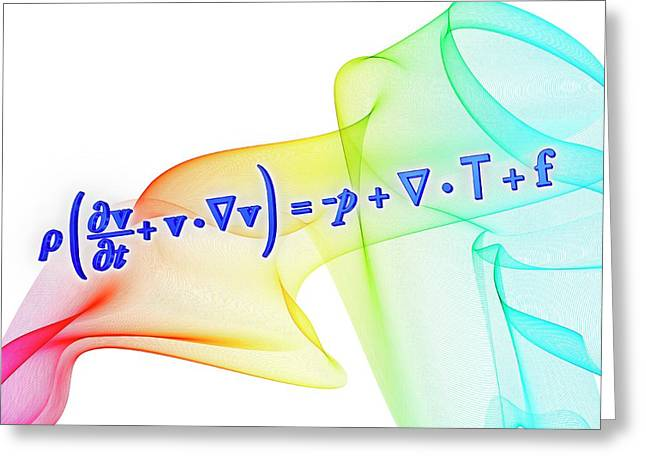 Navier-stokes Equation Greeting Card by Alfred Pasieka