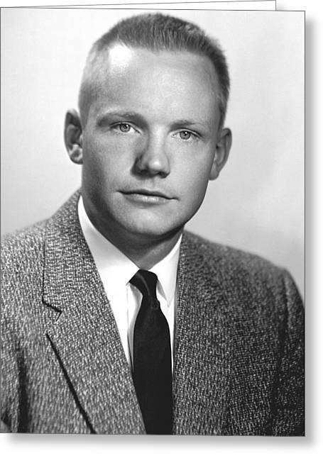 1950s Portraits Greeting Cards - Neil Armstrong, US astronaut Greeting Card by Science Photo Library