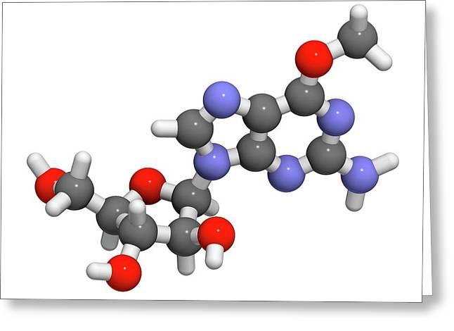 Nelarabine Leukemia Drug Molecule Greeting Card by Molekuul