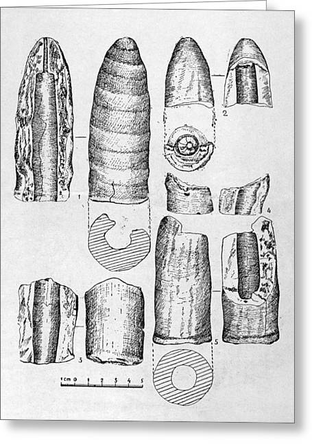 4th Greeting Cards - Neolithic Phallus Figures Greeting Card by Granger