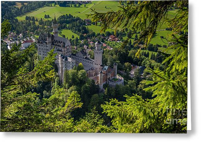 Field. Cloud Greeting Cards - Neuschwanstein Castle - Bavaria - Germany Greeting Card by Gary Whitton