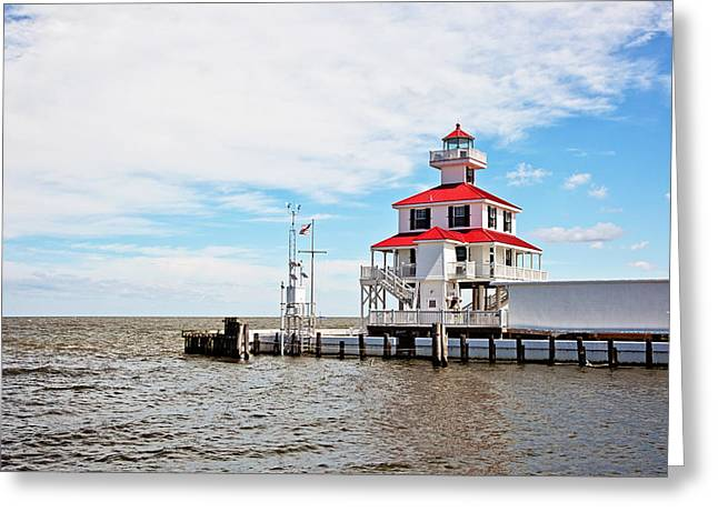 Yacht Basin Greeting Cards - New Canal Lighthouse Greeting Card by Scott Pellegrin