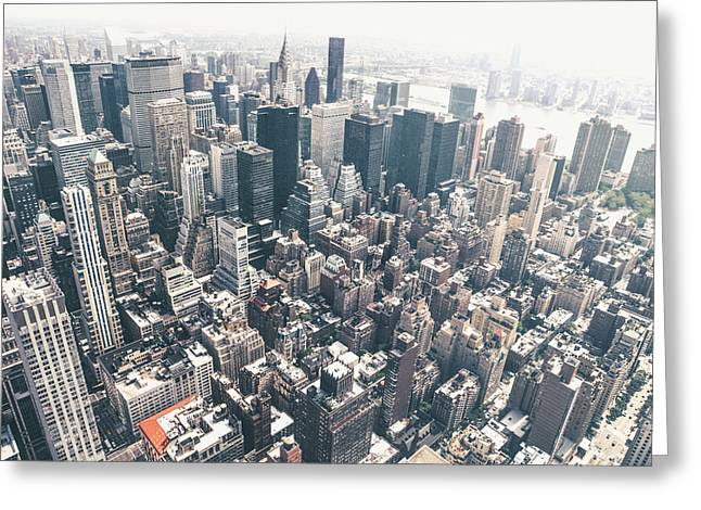 From Above Greeting Cards - New York City from Above Greeting Card by Vivienne Gucwa