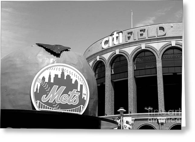 Shea Stadium Greeting Cards - New York City Greeting Card by GoldStreet Photography