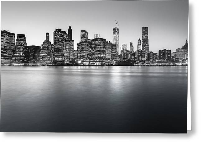 Financial Greeting Cards - New York City Skyline Greeting Card by Vivienne Gucwa