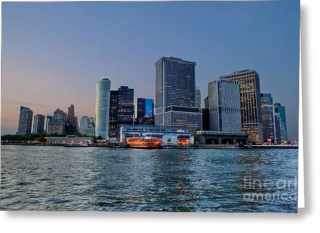 River View Greeting Cards - New York New York Greeting Card by Ray Warren