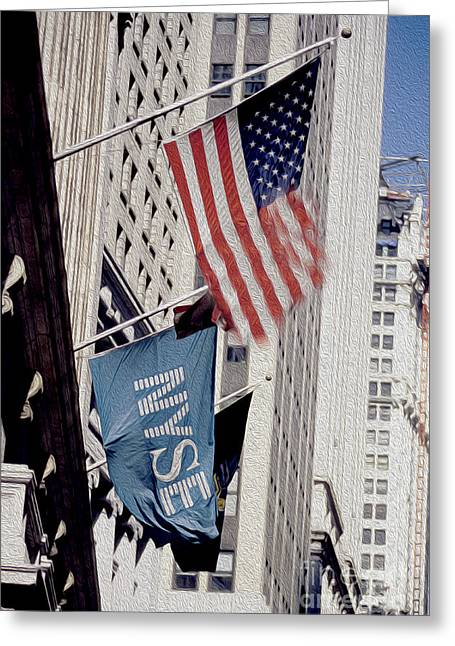 Exchange Mixed Media Greeting Cards - New York Stock Exchange Greeting Card by Jon Neidert