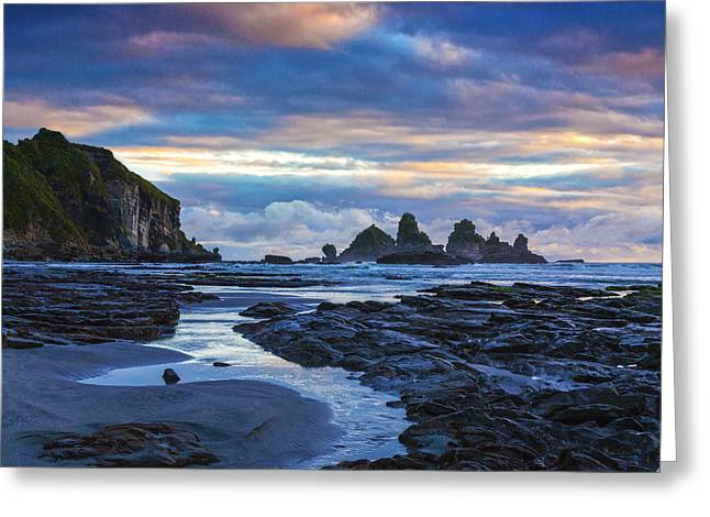 New Zealand Photographs Greeting Cards - New Zealand Motukiekie Greeting Card by Colin and Linda McKie