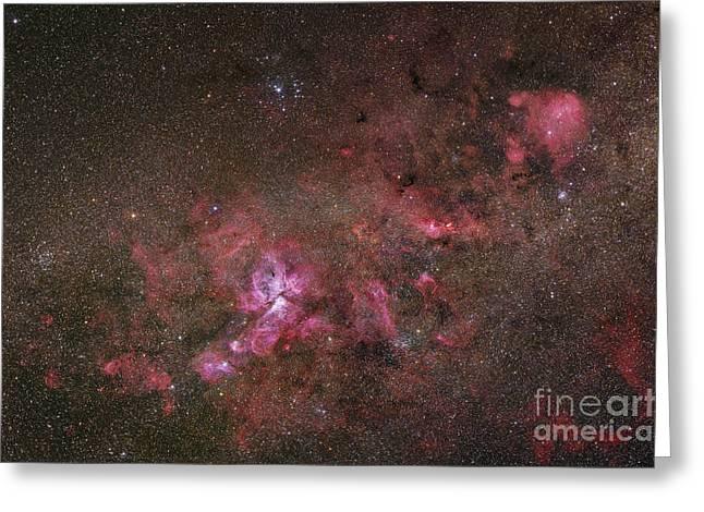 Interstellar Space Greeting Cards - Ngc 3372, The Eta Carinae Nebula Greeting Card by Robert Gendler