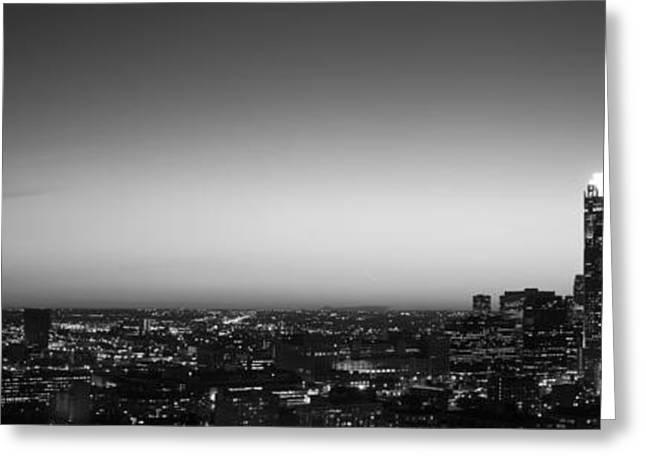 City Buildings Greeting Cards - Night Chicago Il Usa Greeting Card by Panoramic Images