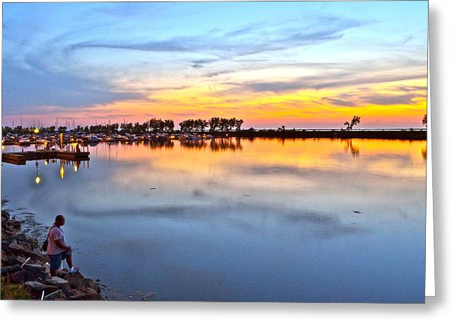 Tremendous Greeting Cards - Night Fishing Greeting Card by Frozen in Time Fine Art Photography