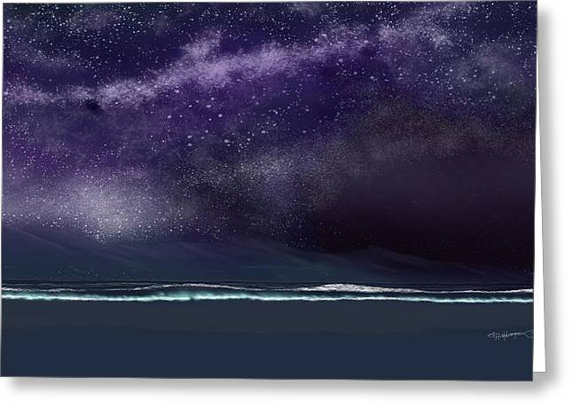 Startrails Digital Greeting Cards - Night of a thousand stars Greeting Card by Anthony Fishburne