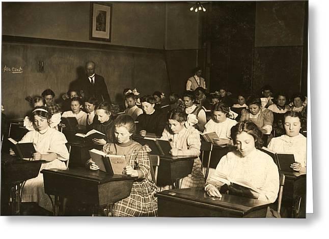 Night School, 1909 Greeting Card by Granger