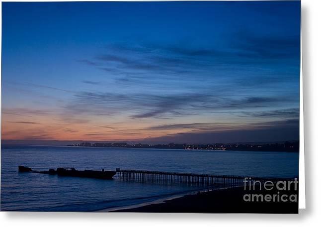 Santa Cruz Pier Greeting Cards - North Monterey Bay Greeting Card by Morgan Wright