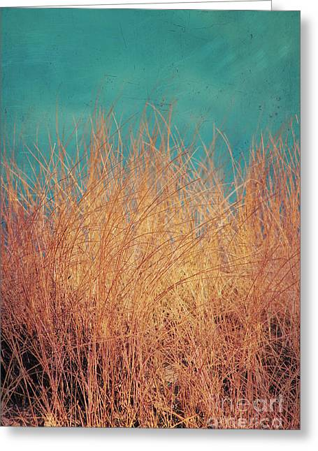 Dunes Mixed Media Greeting Cards - Northsea Feeling Greeting Card by Angela Doelling AD DESIGN Photo and PhotoArt